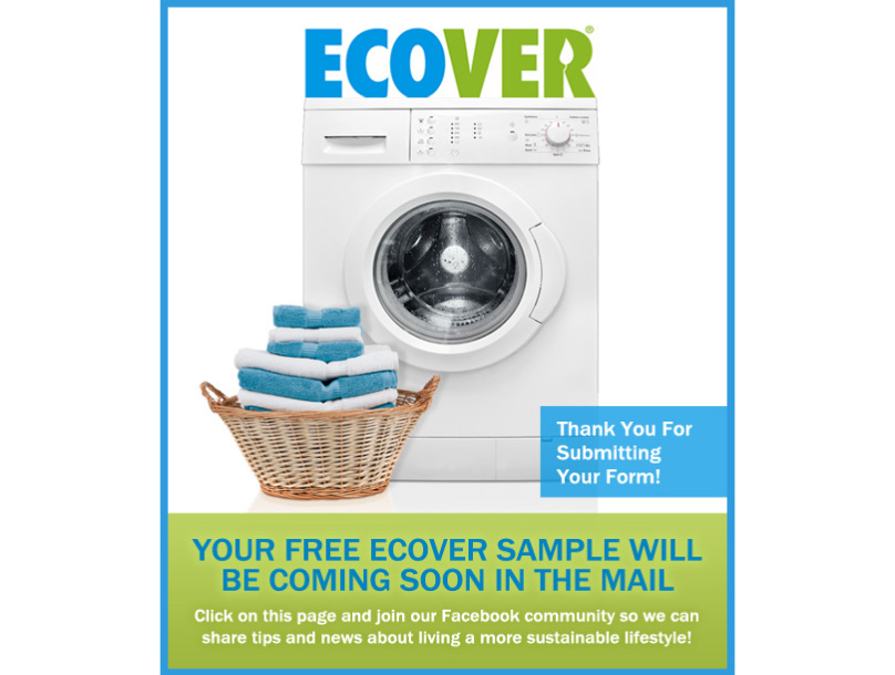 free ecover laundry detergent sample get