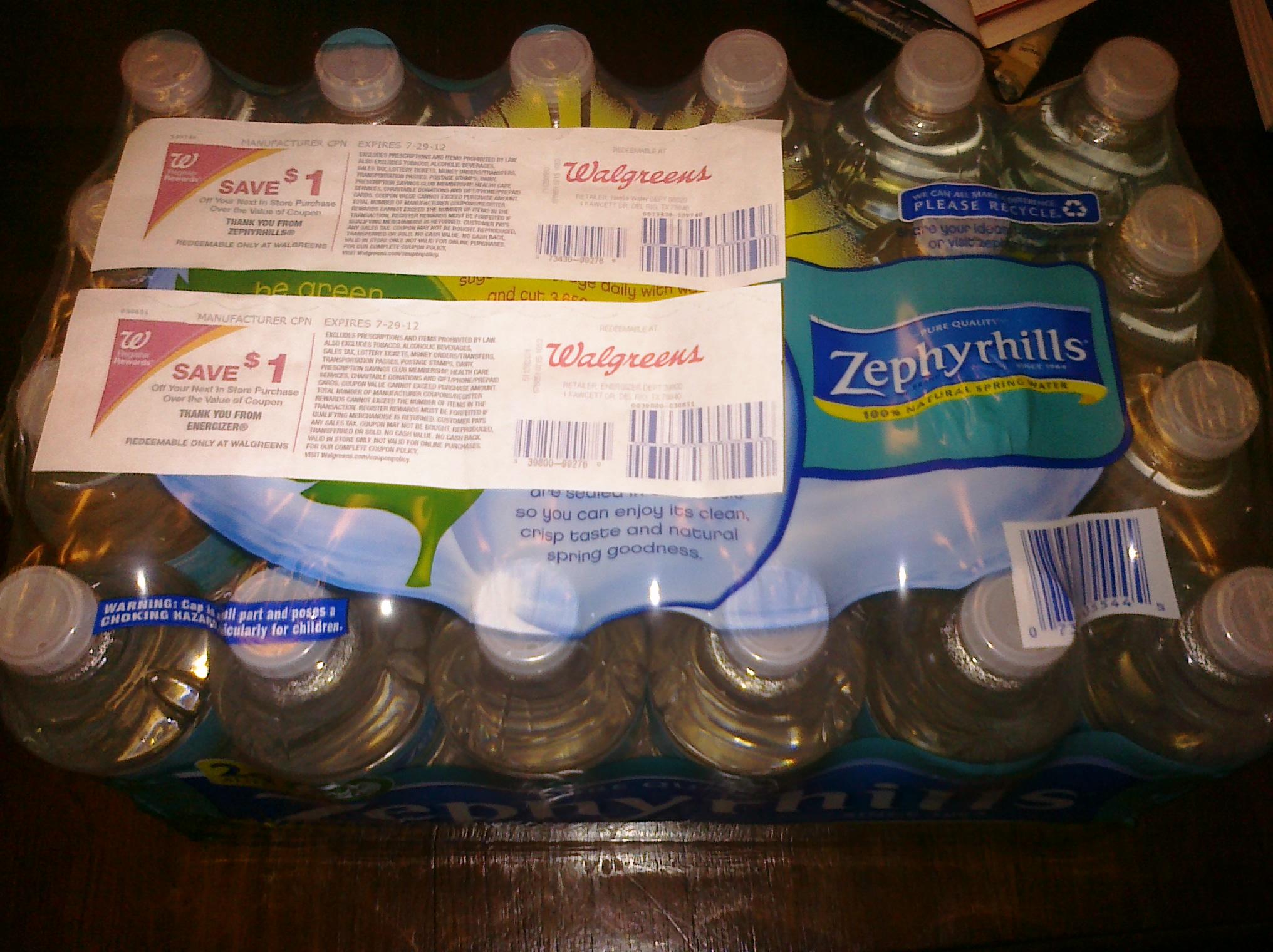 Coupon code for zephyrhills water