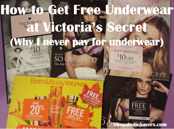 How To Get Free Underwear at Victoria's Secret