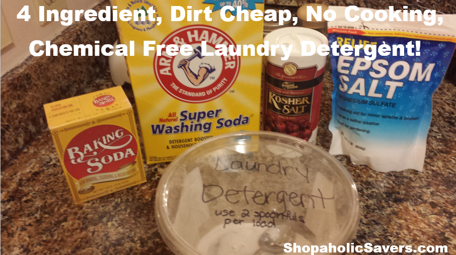 CheapFourIngredientChemicalFreeLaundryDetergent