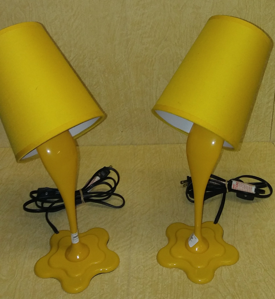 3 26 18 Thrift Finds  Paint Bucket Spill (LumiSource WOOPSY) Lamps For  $2.50 Each And More